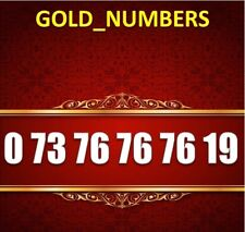 GOLD MOBILE PHONE NUMBER MEMORABLE GOLDEN EASY VIP 07376767619