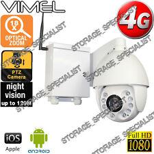 4G Security Camera PTZ 18XOptical Zoom Motor GSM Alarm Farm Live View Outdoor 3G