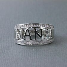 925 Silver MOM& NANA Style Women Wedding Jewelry Engagement Party Ring Size 5-10
