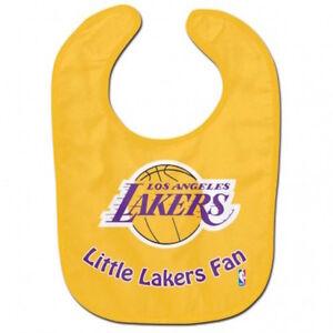 Los Angeles Lakers Baby Feeding Bib NBA Little Fan Infant Toddler Newborn Shower