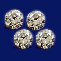 0.24CT 4/Pcs Round Shape 100% Natural White Loose  Diamond Set With Certificate