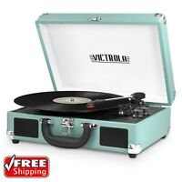 Brand NEW Victrola Portable Suitcase Record Player w/ Bluetooth VSC-550BT-TQ