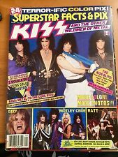 KISS - SUPERSTAR Facts & Pix CENTERFOLD POSTER Magazine Vintage ( program )