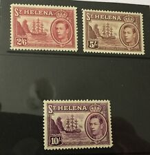 St Helena 1938-44 3 top values mint hinged
