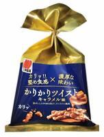 Crispy Twist Caramel flavor Hard texture Karinto 1 bag Wheat Snack Sanko Japan