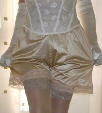 Gold silky nylon gloss lace petticoat mini half slip underskirt lingerie BNIP