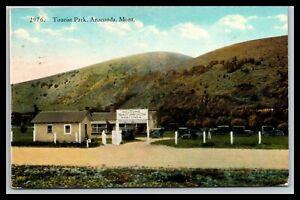 ANACONDA MONTANA TOURIST PARK POSTCARD, 1941