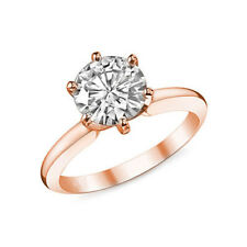 Solitär Brillant Diamantring 1,00 ct Diamant River+, 585 Roségold + Zertifikat