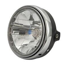 """7"""" Halogen Bulb Universal Motorcycle Headlight for Cafe Racer Bobber Custom"""