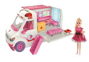 Large Clinic Vehicle and DREAM Doll Barbie Girl with Light and Sound
