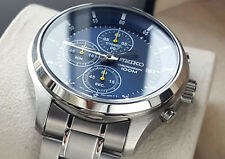 Orologio Cronografo Uomo Seiko Men's Chrono 1/10 Sec. Cal. Seiko 4T57..0 – NUOVO