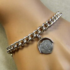 SILVER second hand charm bracelet & spinner