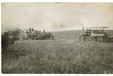RPPC - Farming Scene - CASE Tractor Thrasher in the field - Early 1900s Texas