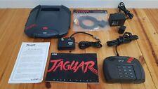 Atari Jaguar Console PAL includes controller, plugpack, AV lead, RF box, Manual.