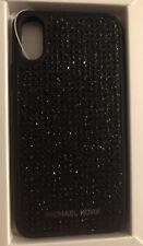 New Authentic Michael Kors iPhone X Black Diamond Stud Snap-On Case $65