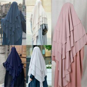Khimar Full Cover Muslim Women Long Prayer Shawl Niquab Large Hijabs Jilbab