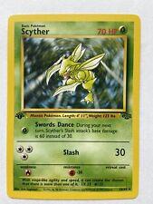 SCYTHER - 1st EDITION - RARE Jungle Non-Holo, 26/64 Pokemon Card