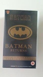 Batman & Batman Returns - Ltd Edition - Double VHS Video - # R. Played once