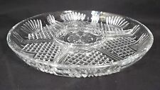 Vintage Covetro Italy Clear Glass Divided Relish/Serving Dish Pineapple Design