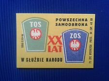 4. Vintage Label with of matches - Etykiety z zapalek