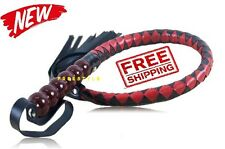 Leather Whip Special LEATHER RIDING CROP Horse riding Flogger Whip Restraints^ ^