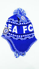 Chelsea FC POM BEANIE Snow Cap Sports Soccer Hat With Tassels Blue New