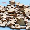 100pcs Bag Wood Wooden Love Heart Wedding Table Scatter Decoration Crafts DIY H