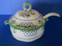 ANTIQUE ROYAL DOULTON SMALL LIDDED TUREEN WITH ORIGINAL LADEL C1902-1922