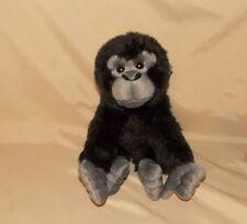 "Gorilla Plush Stuffed Animal 9"" WildLife Artists Black and Gray Monkey"