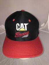 NWOT CAT Racing Caterpillar Trucker Hat Cap Snapback Black/Red