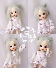 "5-6"" 14cm BJD fabric fur wig Rime Green for AE PukiFee lati 1/8 Doll"