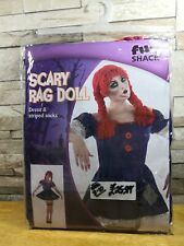 SCARY RAG DOLL FANCY DRESS COSTUME SIZE 16 - 18 BRAND NEW IN PACKET