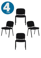 Conference Chair Pack of 4 pcs Visitor Chair black fabric XT 600 hjh OFFICE