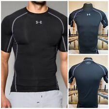 Under Armour HeatGear  Compression Men's Short Sleeve, Black Ultra-tIght Large