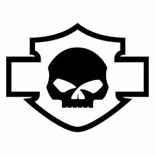 Harley Davidson Skull Vinilo Coche Bike Laptop Decal Sticker 20.2x15.6cm Aprox