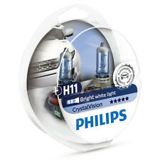 Philips Crystal Vision H11 Upgrade Car Headlamp Bulbs (Twin Pack) 12362CVSM
