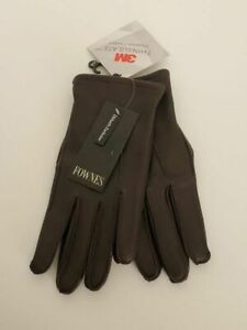 MEN'S FOWNES BROWN LEATHER THINSULATE GLOVES SIZE XL NWT