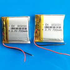 2 pcs 3.7V 700mAh Li Po Polymer Battery for MP3 DVD GPS Camera Recorder 803030