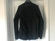 Mens DOLCE &  GABBANA  SICILIA BLACK STRETCH SHIRT 15 inch collar