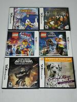 Lot Of 6 Nintendo DS/2DS/3DS Games - Lego, Nintendogs, Sonic, Star Wars - CIB