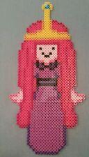 Princess Bubblegum kandi perler necklace Adventure Time rave EDC PLUR