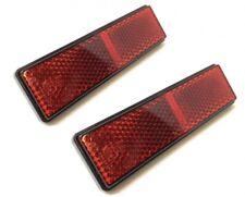 2x Reflektor Katzenauge 94x28mm Rot mit Gewindebolzen M5 E-Geprüft