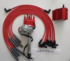 BIG BLOCK CHEVY 396-427-454 RED Small HEI Distributor, COIL &  PLUG WIRES-180's