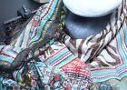 Foulard Echarpe Etole Carré Motifs Zèbre et couleurs