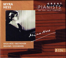Myra Hess: GREAT PIANISTS OF THE 20th CENTURY 2cd Bach Beethoven Brahms Schumann