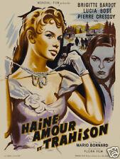 Tradita Brigitte Bardot vintage movie poster print