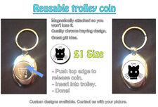 I Love My Cat - Cute - REUSABLE £1 SHOPPING TROLLEY TOKEN - GREAT GIFT IDEA