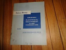 Delco-Remy Original Electrical Equipment for 1959 Passenger Cars DR-5210