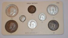 More details for 1915 king george v 8 coin collection set farthing to half crown