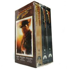 1989 The Adventures of Indiana Jones VHS VCR Tape Box Set Trilogy Vintage